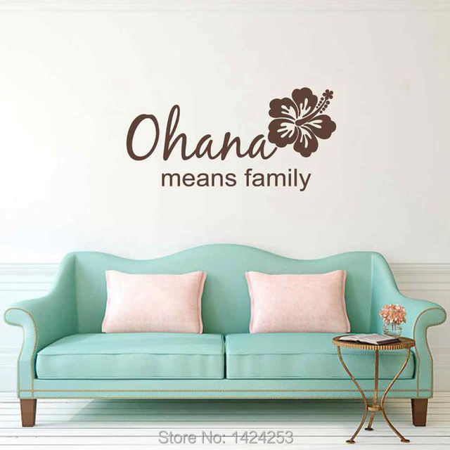 BATTOO Ohana Family Large Wall Decals - Ohana means family Viny lWall Art Stickers Houseware  sc 1 st  AliExpress.com & BATTOO Ohana Family Large Wall Decals Ohana means family Viny lWall ...