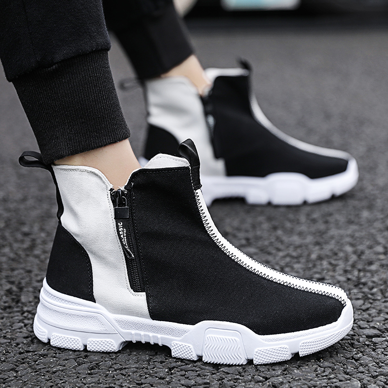 2019 New Skateboard Shoe Men Breathable Sport Shoes Outdoor Summer Men's Sneakers Men High Top Canvas Shoes Zapatillas Hombre(China)