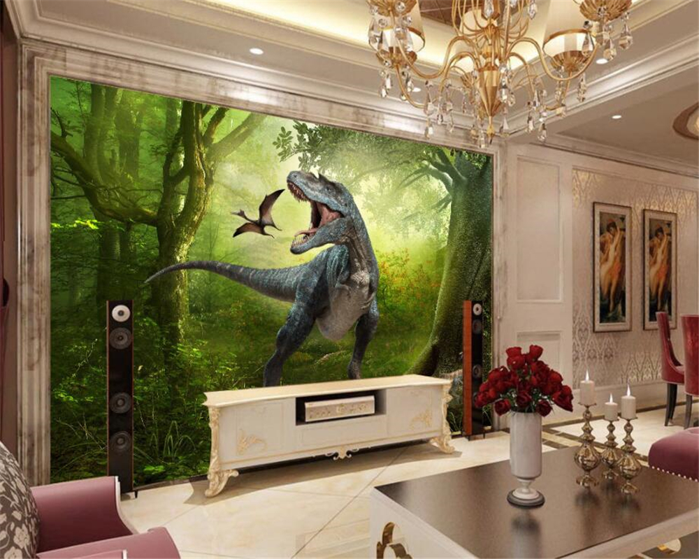 Kinderkamer Jungle Behang : Beibehang bos dinosaurussen jungle kinderkamer achtergrond