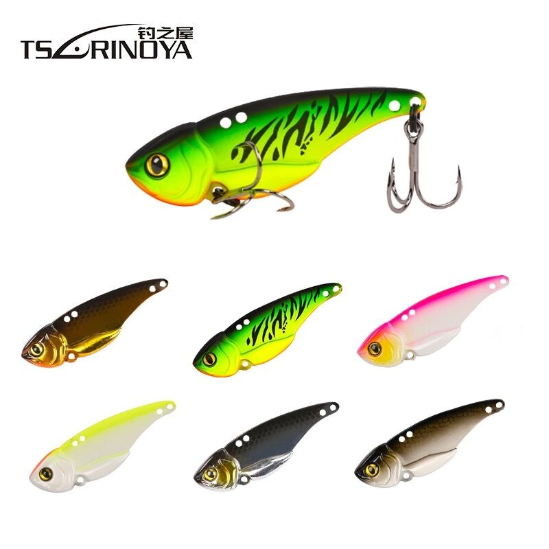 Trulinoya Metal VIB Baits 5g/7g/10g/15g Hard Fishing Lure Treble Hook Isca Artificial Para Pesca Leurre Peche Souple Tackle 10pcs 21g 14g 10g 7g 5g metal fishing lure fishing spoon silver and gold colors free shipping