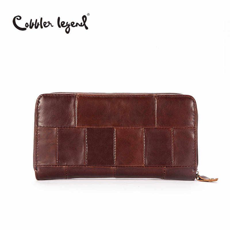 b9a9e9ff7ade ... Cobbler Legend брендовый дизайнерский Повседневный Женский кошелек из  натуральной кожи Длинный кошелек для дам кошельки для ...