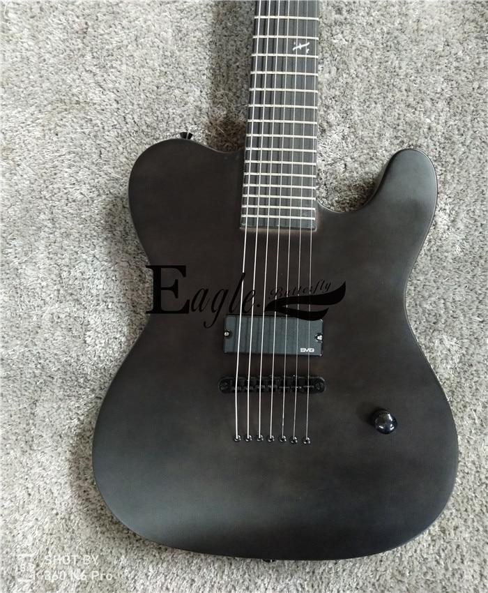 personalizada, 22 preto fosco personalizado metal rock
