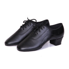 PU Black Latin Dance Shoes For Boy Men Tango Ballroom Dancing Shoes Jazz Shoes Free Shipping