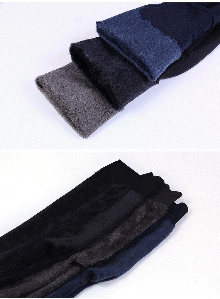 CHRLEISURE Warm Women's Plus Velvet Winter Leggings Ankle-Length Keep Warm Solid Pants High Waist Large Size Women Leggings 10