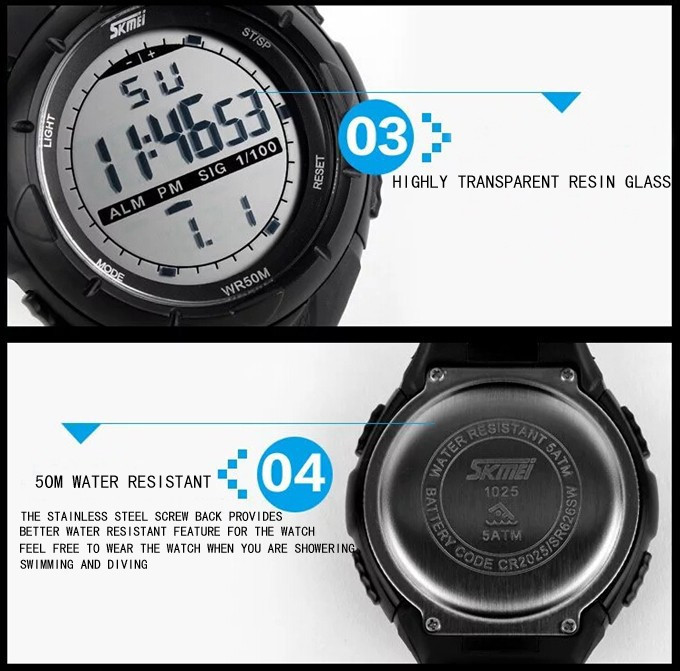 18 New Skmei Brand Men LED Digital Military Watch, 50M Dive Swim Dress Sports Watches Fashion Outdoor Wristwatches 20