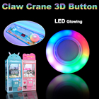3D LED Glowing Claw Crane Durable Push Button Doll Catch Coin Operated Games DIY Accessories Replacement