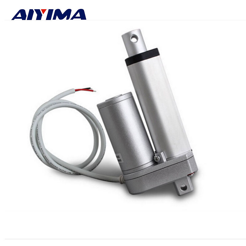 AIYIMA 1pcs Multi-function Linear Actuator Motor DC12V 50mm Stroke 1000N 12mm/s For Windows Multifunctional Bed Lift Table ...