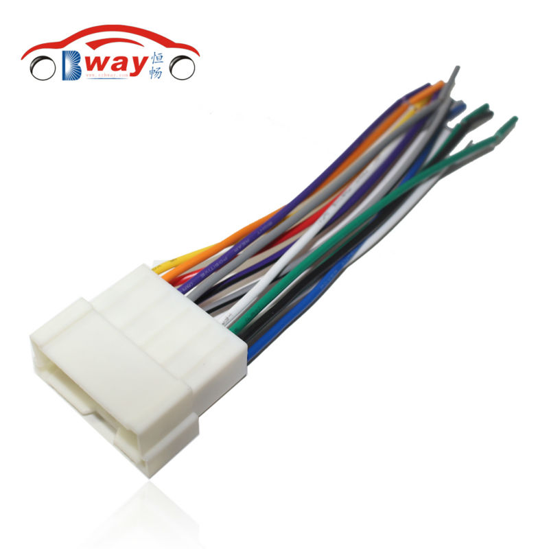 Car Stereo Female ISO Radio Plug Power Adapter Wiring Harness Special for Hyundai Sonata Elantra Tucson car stereo female iso radio plug power adapter wiring harness Wire Harness Assembly at panicattacktreatment.co