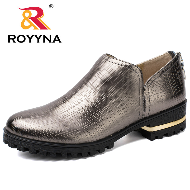 ROYYNA 2017 New Oxfords Women Flats Platform Casual Shoes Women Round Toe Loafers Ladies Comfortable Slip On Fast Free Shipping yiqitazer 2017 new summer slipony lofer womens shoes flats nice ladies dress pointed toe narrow casual shoes women loafers