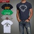 2016 novo designer de moda T-shirt dos homens hollistic 100% algodão T-shirt homem abercr ombi, estilo verão T-shirt frete grátis