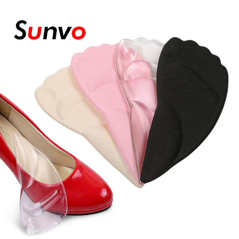Sunvo Silicone Gel Forefoot Pads for Women High Heel Insert Pad Shock Absorption Shoes Cushion Insole Massage Shoe Soles Insoles цена 2017