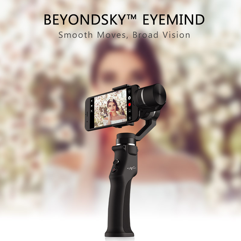 EYEMIND Smartphone Handheld Gimbal 3 eje estabilizador para Cámara de Acción de teléfono APP de Bluetooth Selfie Stick estabilizador