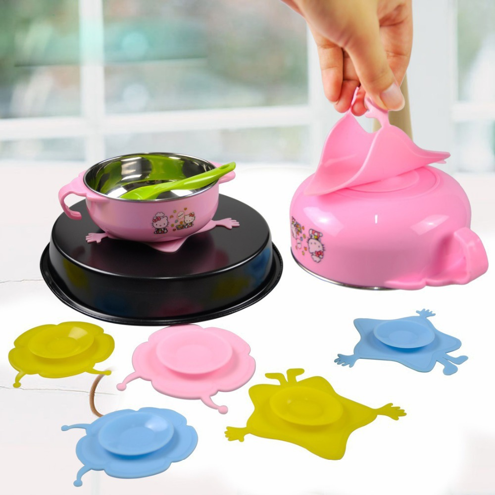 Baby Kids Tableware Non-slip Bowl Suction Pad Baby Plate For Kids Bowl Great New
