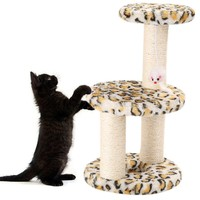 New Home Activity Center Cat Jump Foot Furniture Pet 3 Layers Cat Climbing Tree Scraper Pole Board Hanging Toy