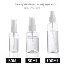 1 шт прозрачные пустые бутылки с распылителем 30 мл/50 мл/100 мл пластиковый мини многоразовый контейнер пустые косметические контейнеры