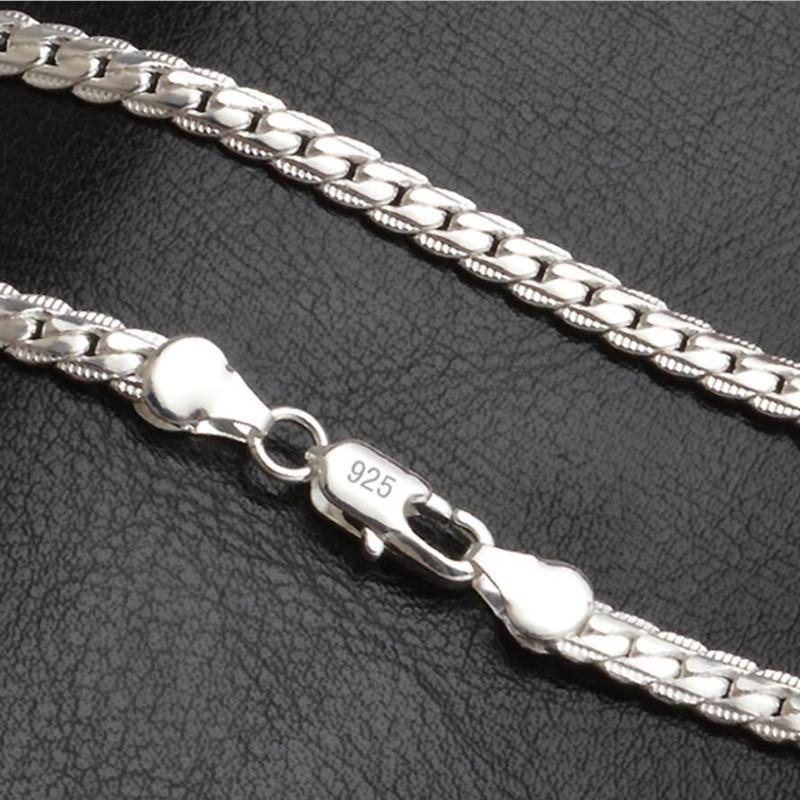 5mm Fashion Chain 925 Sterling Silver Necklace Pendant