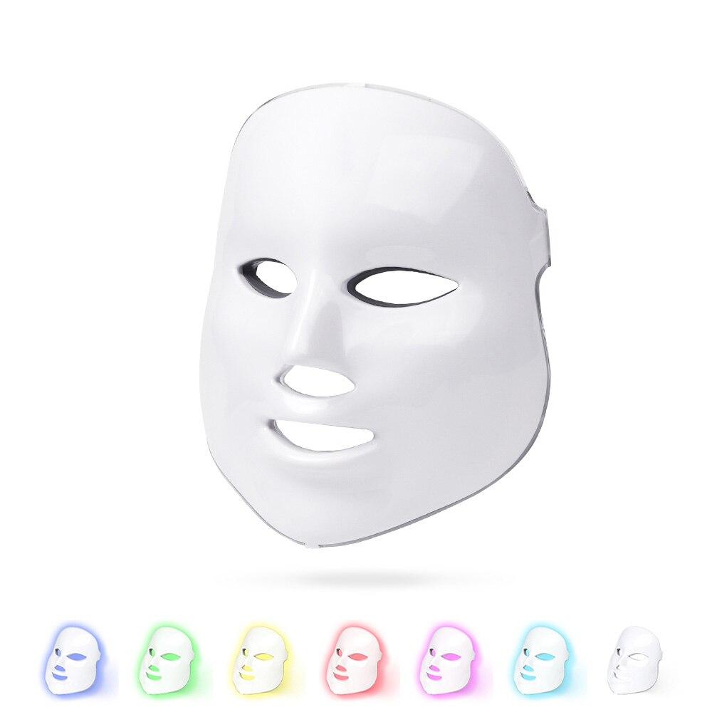7 couleurs LED masque Facial machine photonique thérapie lumière rajeunissement de la peau élimination des rides PDT soins de la peau du visage dispositif de beauté