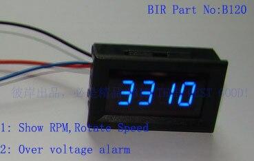 Blaue Hintergrundbeleuchtung f/ür Alle Motorr/äder Motorrad Drehzahlmesser Blau LED Motorrad LED Digital Tachometer Geschwindigkeitsmesser DC 8-18V