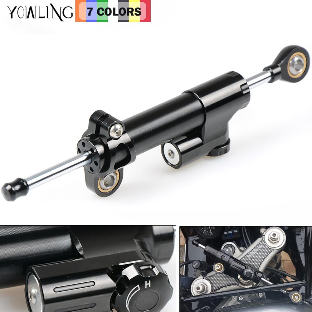 CNC Damper Steering StabilizerLinear Reversed Safety Control damping FOR Kawasaki Z1000 bajaj pulsar 200ns 200 NS/200 RS/200 AS