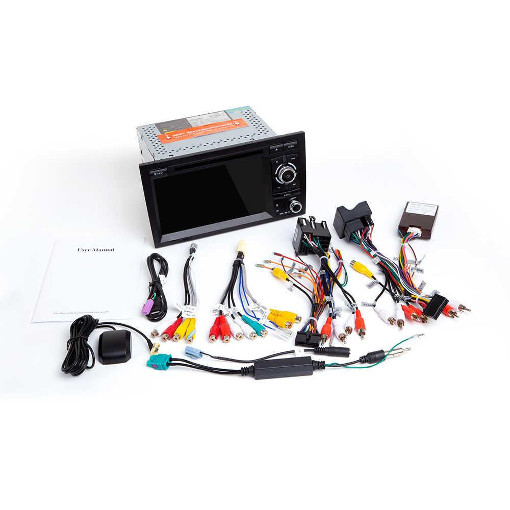 Reprodutor multimídia carro Din Android 9.0 Para Audi A4 B6 2 B7 S4 B7 B6 RS4 Seat Exeo 2002- 2008 RS4 B7 2008-2012 Rádio Navegação GPS
