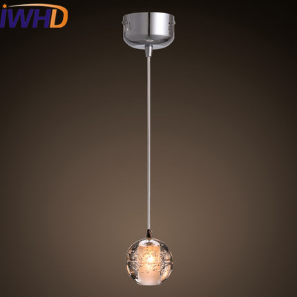 IWHD Crystal Modern Pendant Lights LED Fashion Ball Hanging Light Fixtures Bedroom Home Lighting Lamparas Colgante Lustre iwhd led pendant light modern creative glass bedroom hanging lamp dining room suspension luminaire home lighting fixtures lustre