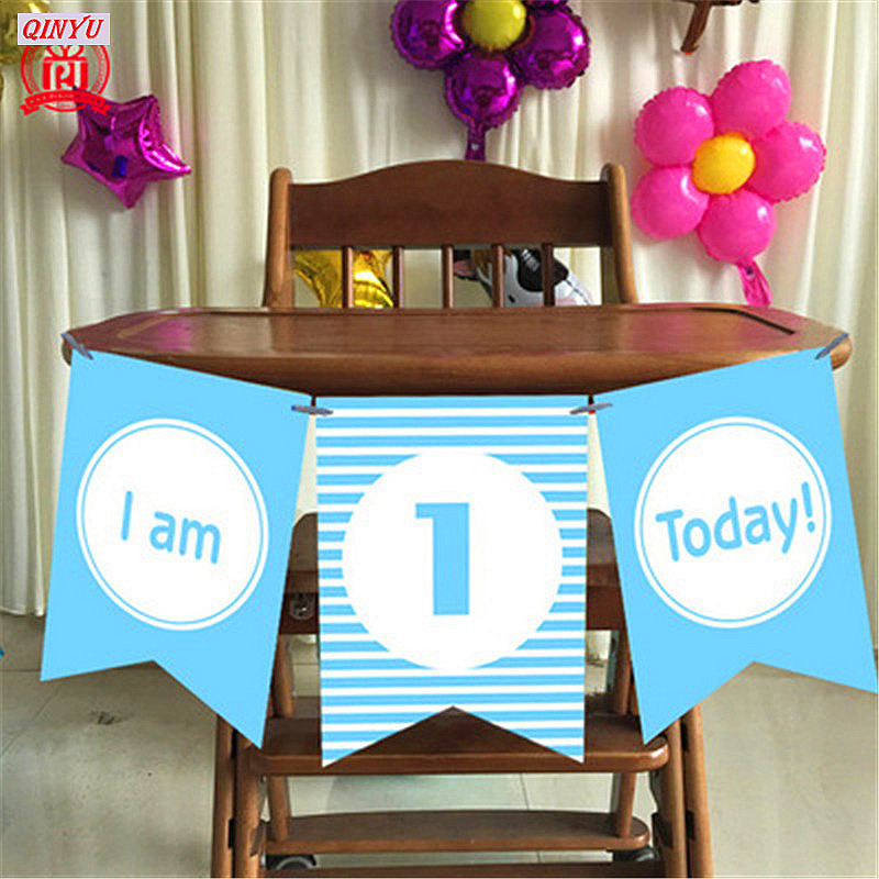 Home & Garden Baby Chair High Chair Birthday Pull Flag Birthday Party Decoration Boy Girl Bunting Supplies High Quality Goods Home Decor