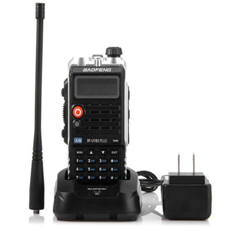 imágenes para 8 W cb radio 4800 mah PIERNA radio baofeng talkie UV-B2 Plus portable dual VHF/UHF 128ch batería móvil walkie talkie portátil LCD