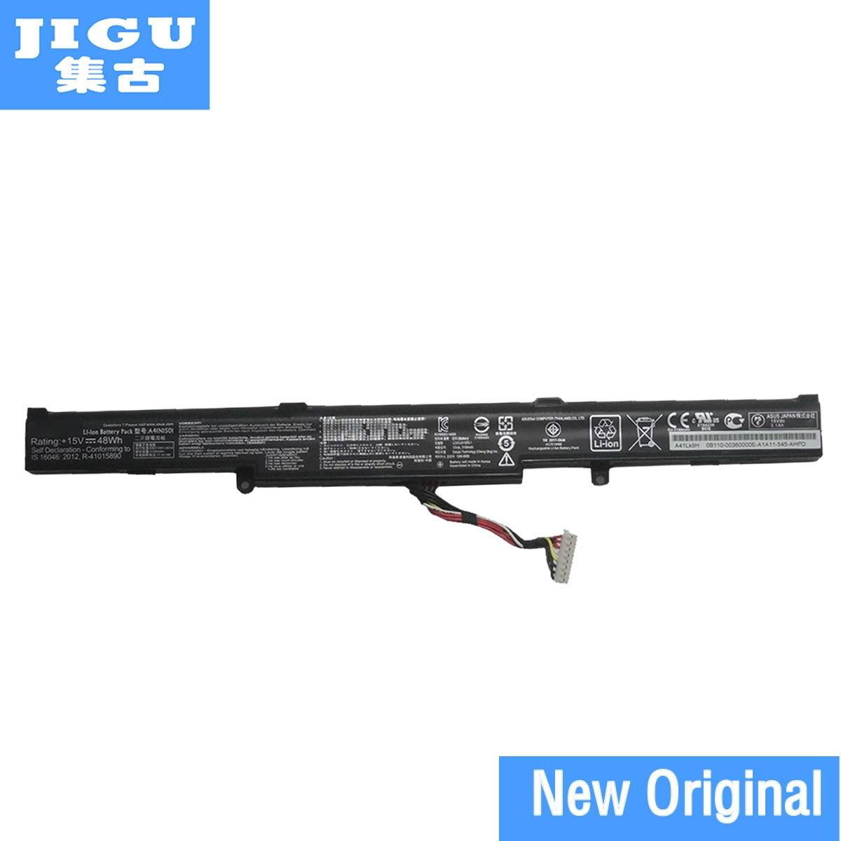 JIGU Original Laptop Battery A41Lk9H A41N1501 For ASUS GL752JW GL752VW Serie UX580GE N752 N752V For ZenBook Pro UX450 15V 48WHJIGU Original Laptop Battery A41Lk9H A41N1501 For ASUS GL752JW GL752VW Serie UX580GE N752 N752V For ZenBook Pro UX450 15V 48WH