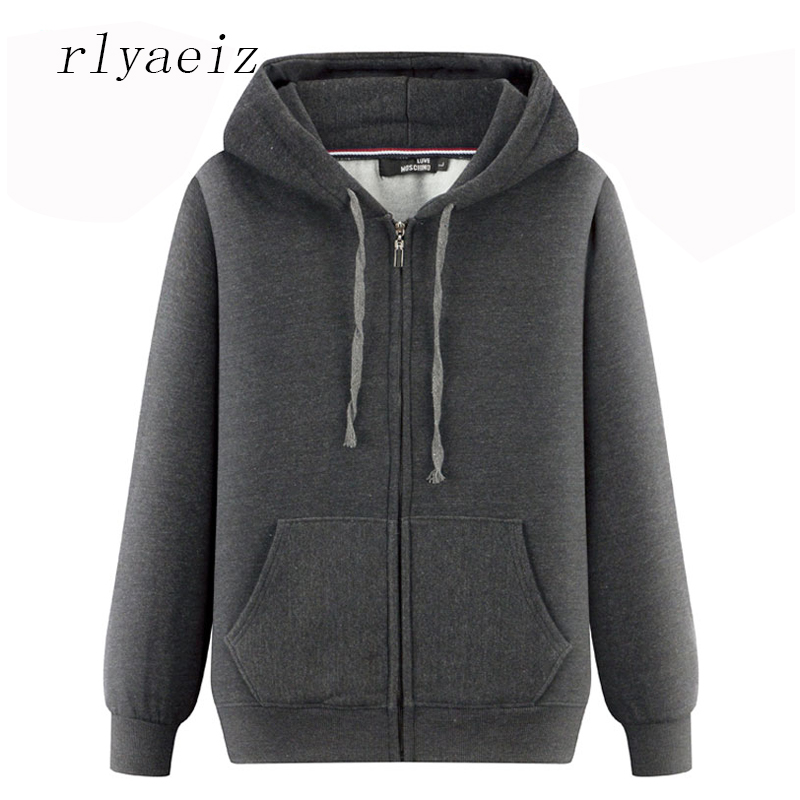 Rlyaeiz High Quality 2017 Brand New Autumn Winter Hoodie Men Casual Loose Pure Color Hooded Hoodies Sweatshirts Men's Sportswear