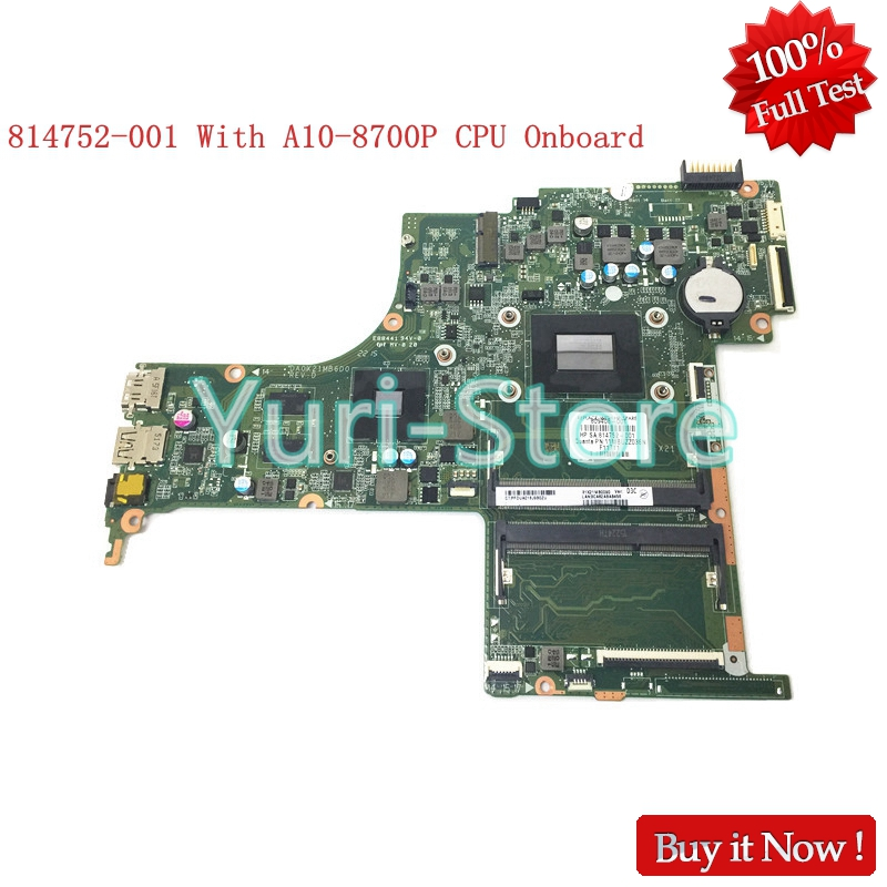 NOKOTION 814752-001 for HP Pavilion Notebook 17-G DA0X21MB6D0 809408-001 series laptop Motherboard M360 2GB With A10-8700P CPU laptop keyboard for hp pavilion 117 e130us 17 e131nr 17 e134nr black us series 720670 001 sn6127 page 8