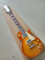 Custom Exclusive LP electric guitar Ice Man version master built light relic lp guitar retro finish aged hardware