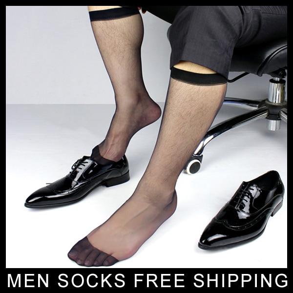 Мъжки ултра чисти черни рокли чорапи дълъг маркуч визуални мъжки костюм TNT чорапи официален стил Безплатна доставка