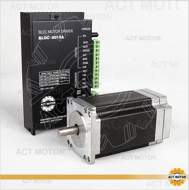 ACT Motor 1PC Nema23 Brushless DC Motor 57BLF03 24V 250W 3000RPM 3Phase Single Shaft+1PC Driver BLDC-8015A 50V US DE UK JP Free