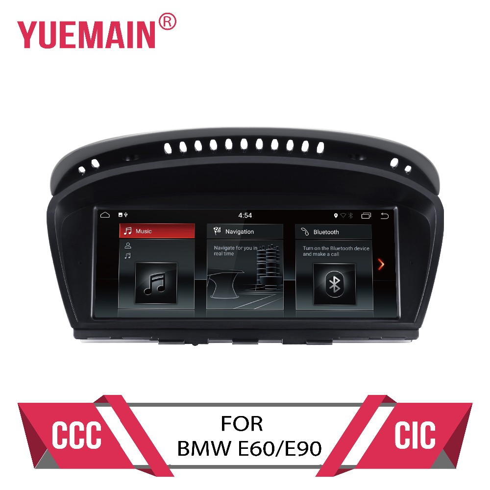 Lecteur dvd de voiture Android 7.1 pour BMW série 5 E60 E61 E62 E63 série 3 E90 E91 CCC/CIC système autoradio gps navigation multimédia