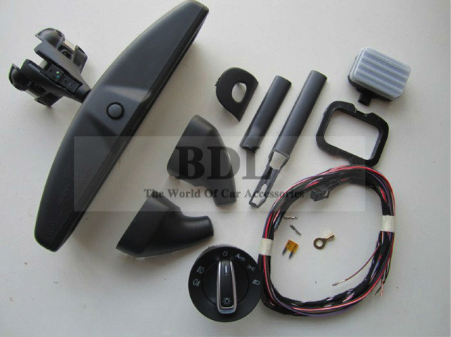 BODENLA Otomatik far anahtarı + Yağmur Işık Silecek Sensörü + Anti-parlama Karartma Dikiz Aynası VW Tiguan Için jetta MK5 Golf 6 MK6