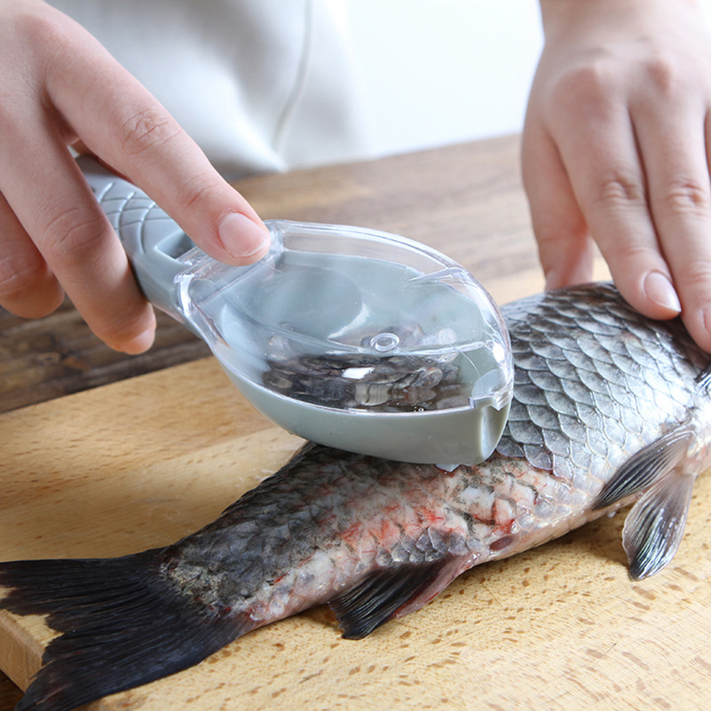 Fish-Cleaning-Tool Cooking Utensils Scrapers Plastic Easy-To-Clean With Lid Hangable