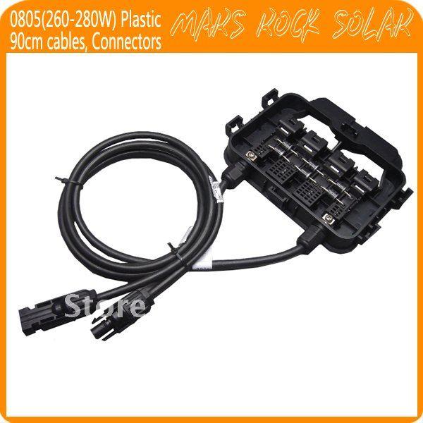 5 шт./лот 260-280 W распределительная коробка для Панели солнечные, IP65 Водонепроницаемый, 6 диоды для подавления переходных скачков напряжения, MC4 разъемы, 90 см кабель, сертификат tuv