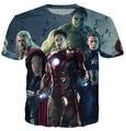 Marvel Os Vingadores Capitão América Homem De Ferro hulk Thor tshirt verão unisex mulheres/homens top tees t-shirt por atacado de roupas