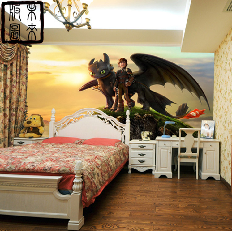 Tapete Junge Customize Murals,how To Train Your Dragon Photo 3d Cartoon
