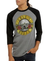 2016 Rock Shirt Guns N Roses T Shirt Rock Logo Print Men S Raglan Long Sleeve