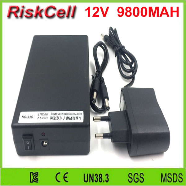 20pcs/lot 12v 9800mah rechargeable <font><b>battery</b></font> for Amplifier,<font><b>heating</b></font> blanket/<font><b>clothes</b></font> ,LED light/panel/strip,CCTV camera,Alarm system