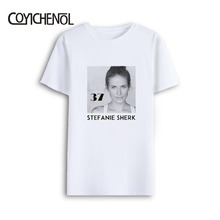 Stefanie Sherk customize tshirt men Oversized modal top regular famous star tops large size print short sleeves homme