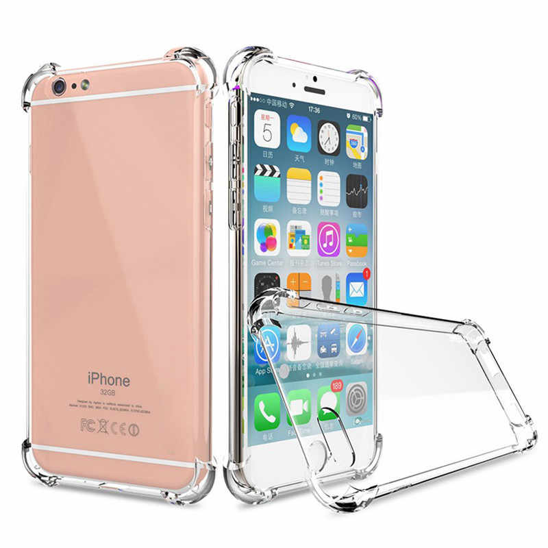 สำหรับ iPhone X 8 7 6 6 s Plus Soft TPU กรณีซิลิโคนโปร่งใสสำหรับ iPhone XS MAX XR 5 5 S 4 7 PLUS 8 PLUS Case