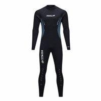 HISEA 5mm Neoprene Wetsuit Men Scuba Diving Suit Fleece Lining Warm Snorkeling Kite Surfing Spearfishing Swim Suit
