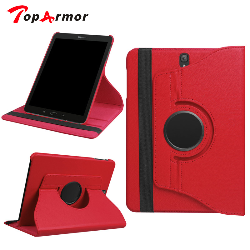 TopArmor 360 Degree Rotating Stand Smart PU Leather Cover Funda Case for Samsung Galaxy Tab S3 T820 T825 9.7 Tablet Cover