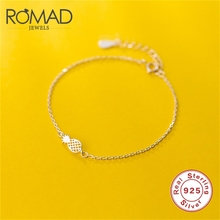 ROMAD 925 Sterling Silver Pineapple Bracelets For Women Fashion Friendship Bangle Hollowed Strand Chain Bracelet R4