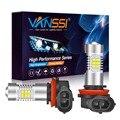 VANSSI H8 H11 H16 светодиодный фонарь HB4 9006 H10 9145 светодиодный противотуманный светильник супер яркий 1300LM 6000K белый автомобильный Drl противотуманны...