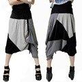 #2910 Streetwear Moda Casual Big drop calças virilha calças Hip hop mulheres corredores Soltos Harem Pants Folgado Capri Calças Onesize