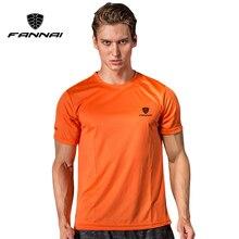 FANNAI, Мужская теннисная футболка, Спортивная, с круглым вырезом, быстросохнущая, дышащая, для пробежки, для бадминтона, мужские футболки с коротким рукавом, топы, футболки, одежда