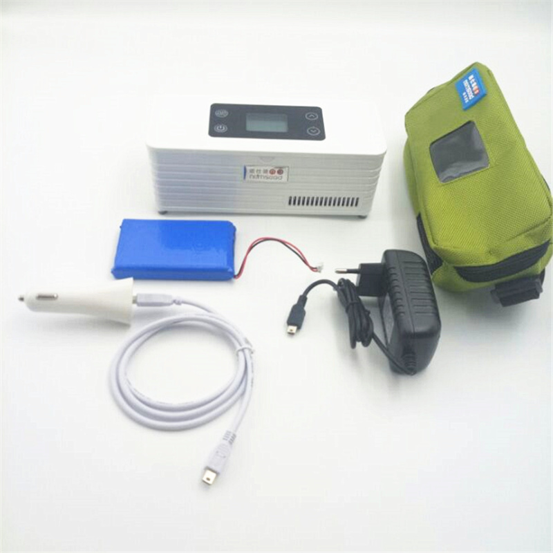 Insuline Portable Cooler Battery Powered Diabetic Medical Thermoelectric Refrigerator Travel Medicine Fridge With LCD Display